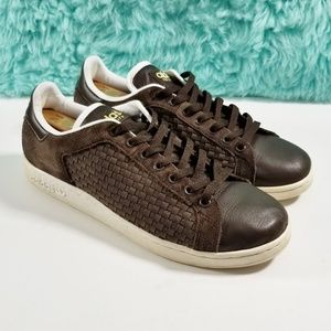 Adidas Stan Smith Brown Woven Sneakers Size 12